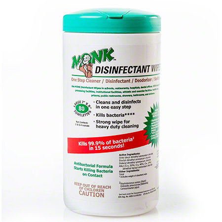 Monk™ Disinfectant Wipes 80/ct.- Single or Case