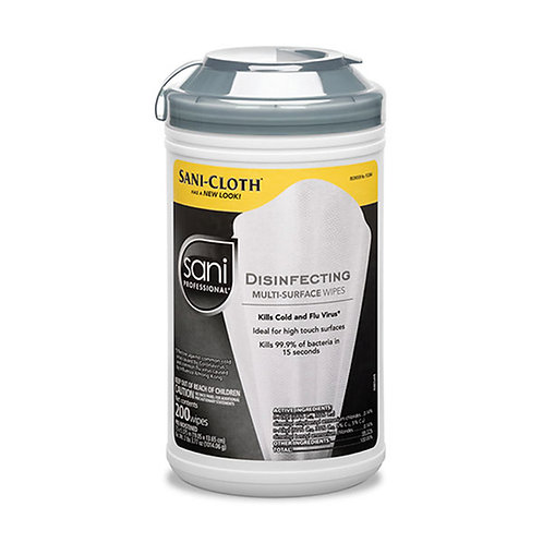 Sani Professional® Disinfecting Multi-Surface Wipes 200/ct.- Single or Case
