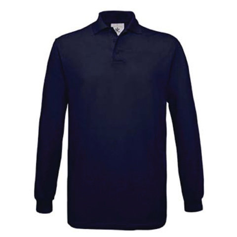 Men's Cotton Long Sleeve Polo