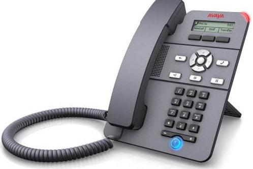 Teléfono IP Avaya J129 + fuente de poder