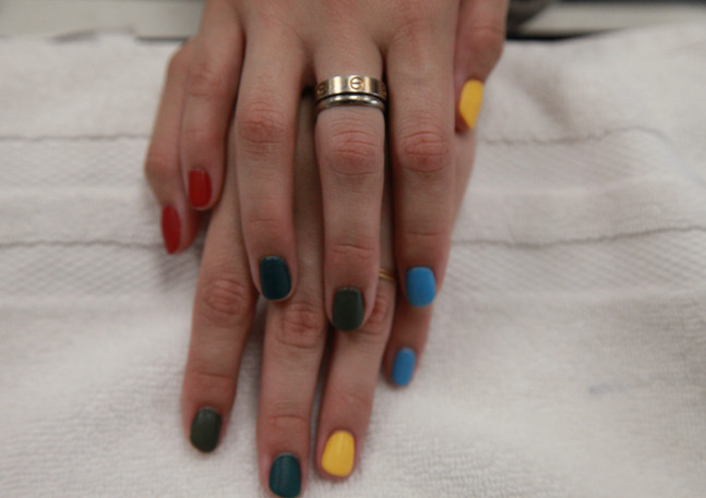multicolor nail design