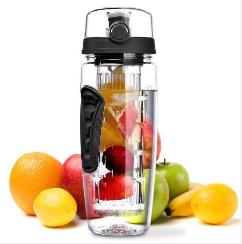 BAISPO 32oz 900ml BPA Free Fruit Infuser Juice Shaker Sports Lemon