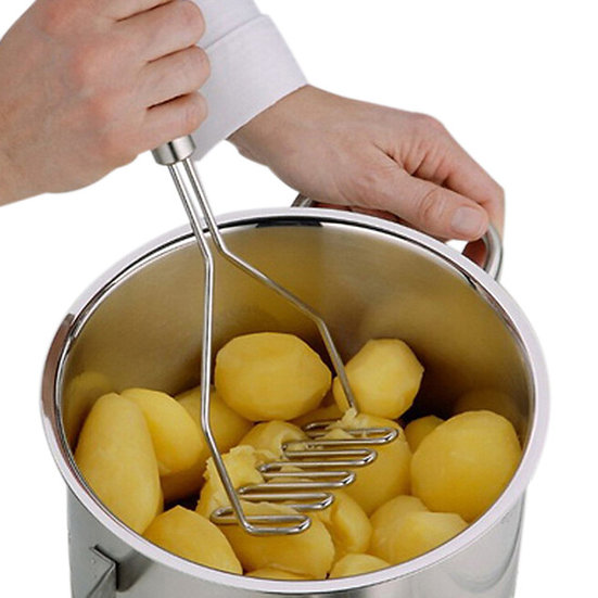 Stainless Steel Wave Shape Potato Masher Tool