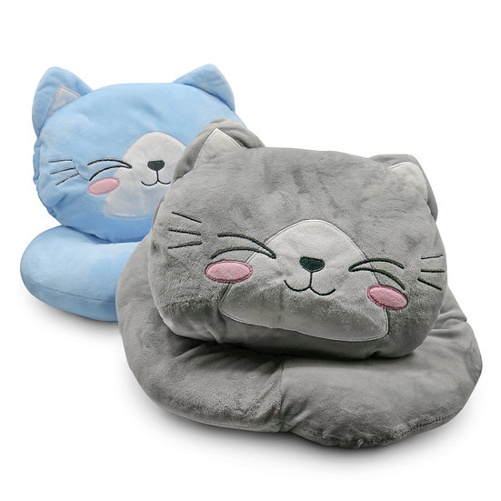 Cat Plush Pillow with Lights, Cat Stuffed Animal Soft and Cozy Gift for Children