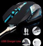 Ninja Dragon Stealth 7 Wireless Silent LED Backlit USB Optical Gaming Mouse