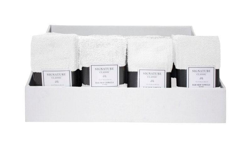 J & M Home Fashions  Signature Classics  White  Cotton  Dish Towel  4