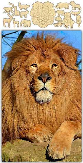 Whimsical Lion Jigsaw Puzzle #6732