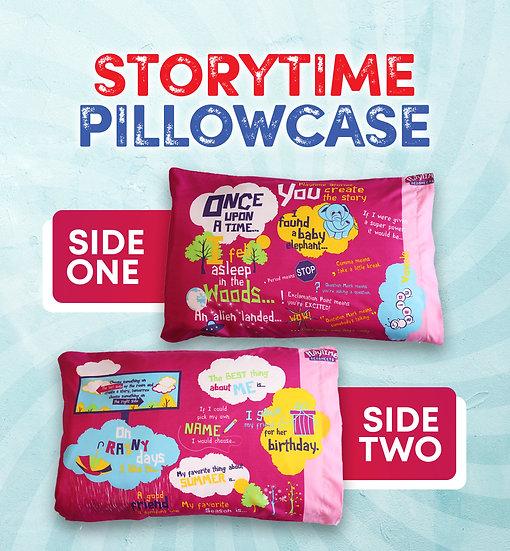 Playtime Story-Telling Pillowcase, Blue