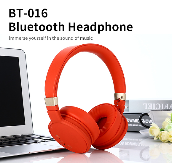 High quality wireless Bluetooth headphone with stereo sound
