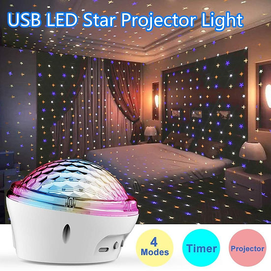 Birthday Party LED Star Projector Light  LED Star Lamp Kids Gifts