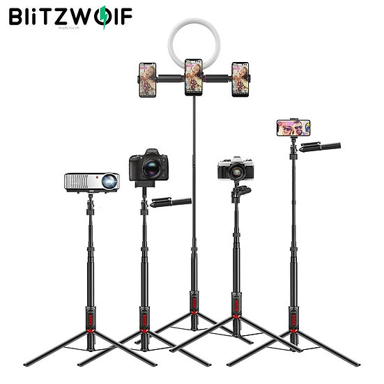 Multifunctional Selfie Stick Tripod blutooth Remote Live Stream