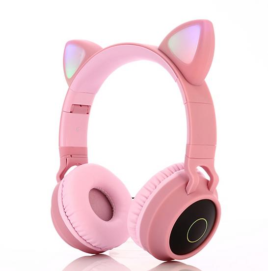 Foldable Super bass cat ear bluetooth wireless headphones