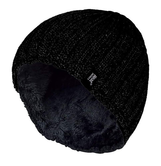 Mens Fleece Lined Thermal Beanie Hat