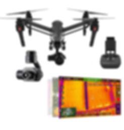 Dron y sensor para inspección térmica de cableado y tendido eléctrico