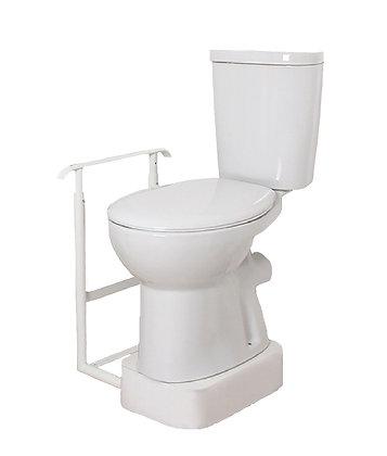 Height Adjustable Toilet Riser & One Flat Adjustable Handrail