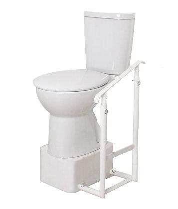 Height Adjustable Toilet Riser & One Tilted Adjustable Handrail