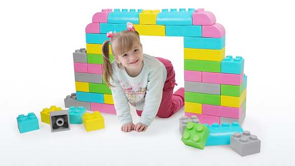 Sensory Play - Big Blocks Pastel Colours