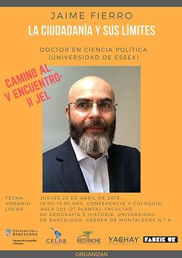 7. 25 abril 2019, Jaime Fierro, Facultad