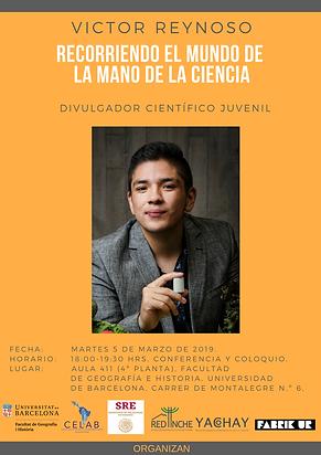 4. 5 marzo 2019, Víctor Reynoso, Facult