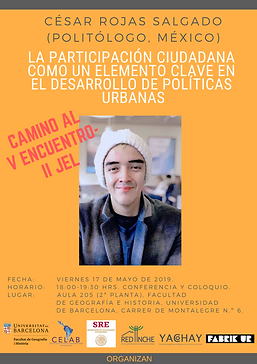 6. 17 mayo de 2019, César Rojas, Facult