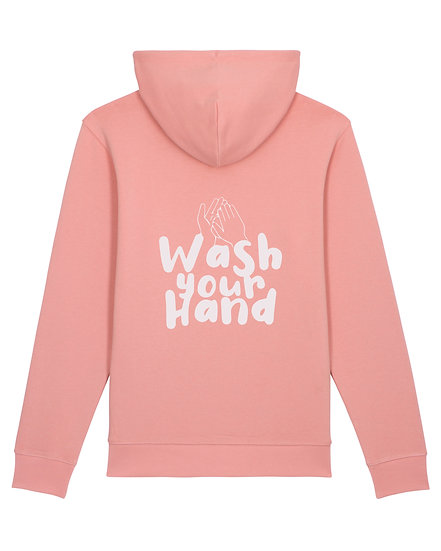 Wash your hands - Hoodie Rose