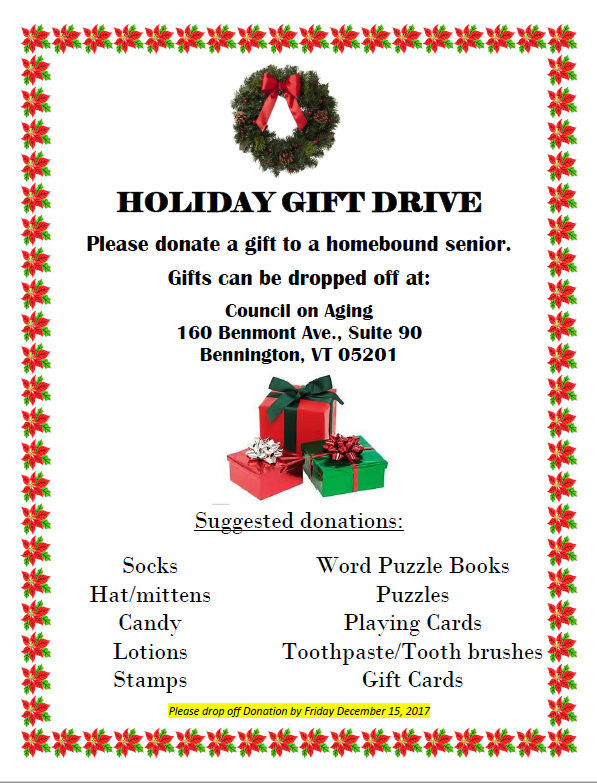 holiday gift drive for home bound seniors volunteer opportunities