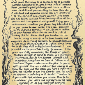 The Desiderata Prayer