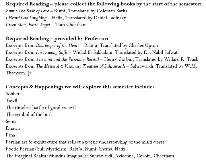 Persian Poetry - the Imaginal Realm Prof
