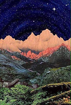 Cosmic Mountain and Star, Artist Uknown