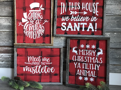 Winter Holiday Signs (Christmas, etc)