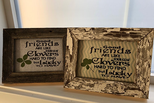 Authentic Framed Clover