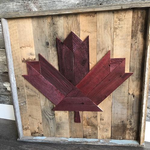 Barnboard Maple Leaf
