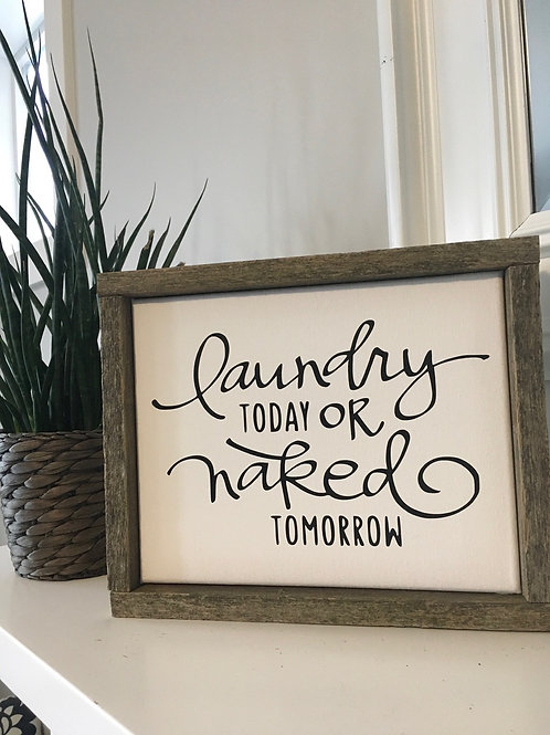 Laundry Quotes Barn Board and Wood Framed Canvas Signs