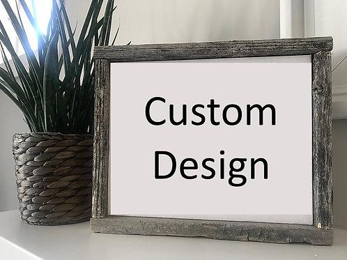 Custom Designed Framed Canvas Sign