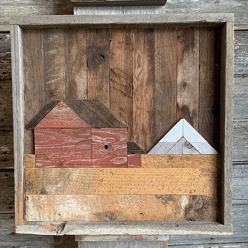 Barnboard Prairie Barn Scene