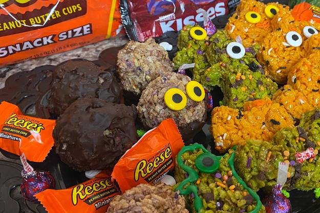 Hershey's Halloween Crispy Treats