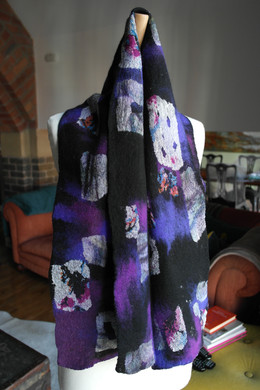 hand felted scarf