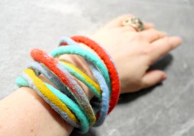 hand felt bracelet