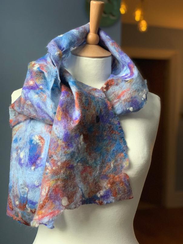 hand felt scarf