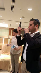 Shofar on Yom Kippur played by a member of the Thailand Progressive Jewish Community
