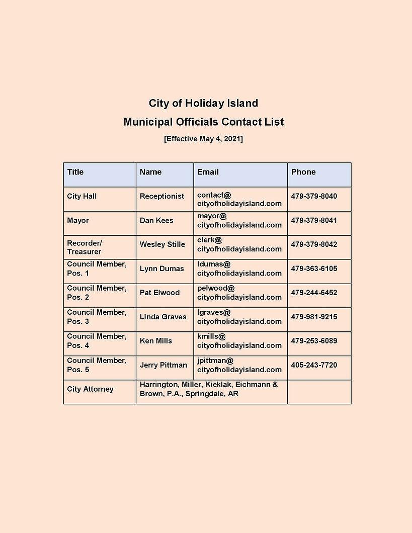 City of Holiday Island Contact List.jpg
