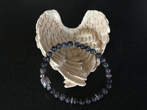 Labradorite and Buddah Stretch Bracelet