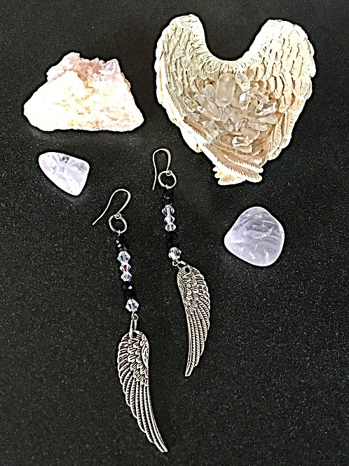 Angel Wings Hanging Earrings
