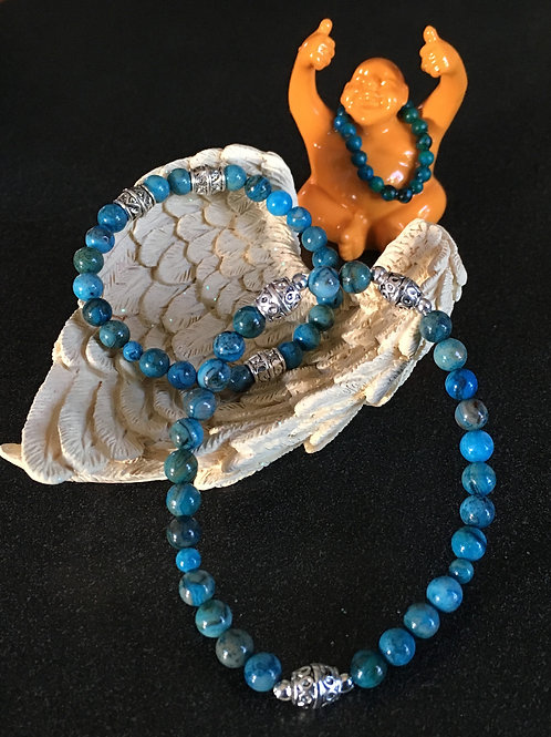 Blue Crazy Lace Agate Stretch Bracelet