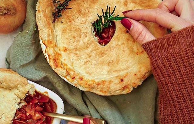 fr : Tarte aux oignons VG et GF / en : Onion pie VG and GF