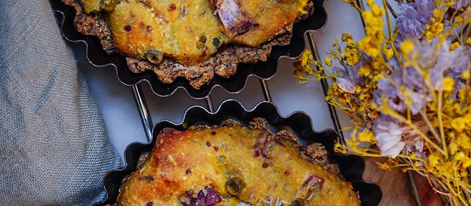 fr : Tartelettes vegan et sans gluten fromagère