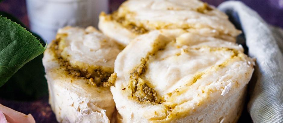 Babka sans gluten vegan au pesto de truffe
