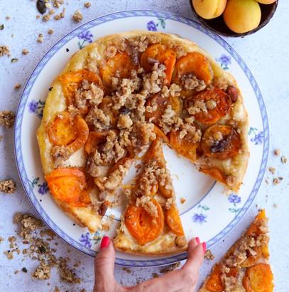 Fr : Tarte tatin vegan / En : Vegan upside down apricot pie