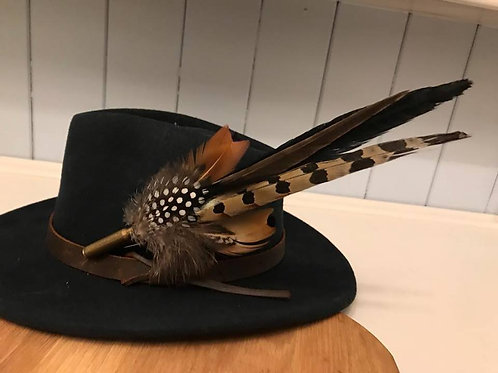 Large Feather Brooch/Hat Pin