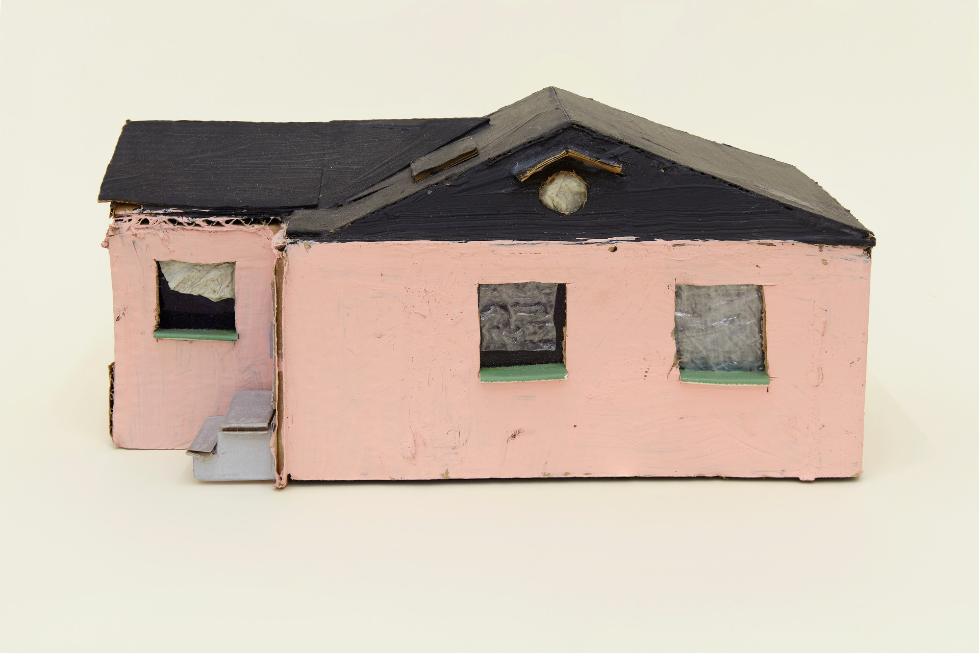 Leo Gabin  Untitled (Real Estate), 2017 – 2019  Acrylic on cardboard  9 x 4 1/2 x 4 1/2 inches